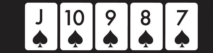 top poker hands straight flush