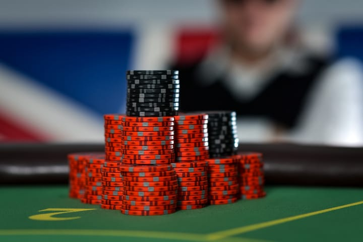 Casino poker etiquette - stack your chips neatly