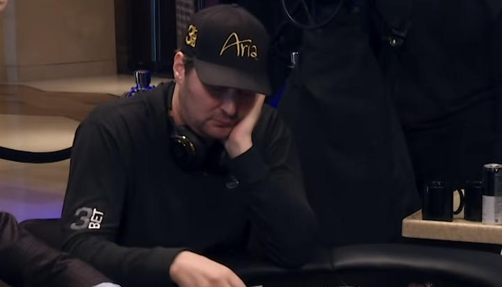 Phil Hellmuth playing staked